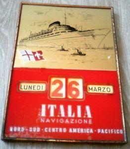 Oggetto Pubblicitario Vintage Calendario Perpetuo ITALIA NAVIGAZIONE '50 🚢📆 | eBay