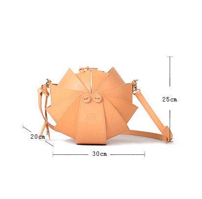 Sac cuir noir Cross Body Bag-Large épaule ronde pour par KiliDesign