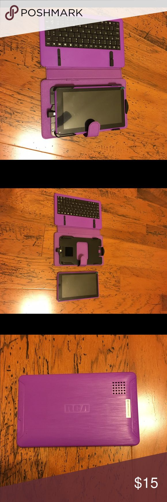 RCA tablet. Used but in great condition. Don't have a charger for it. Purple. Comes with keyboard. Charger can be bought cheap at Walmart or any other store I think. RCA Other