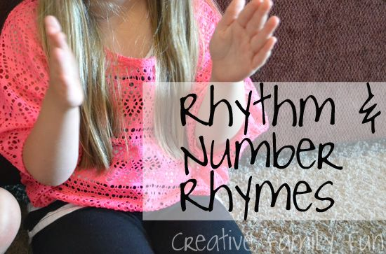 Rhythm and Number Rhymes ~ Creative Family Fun
