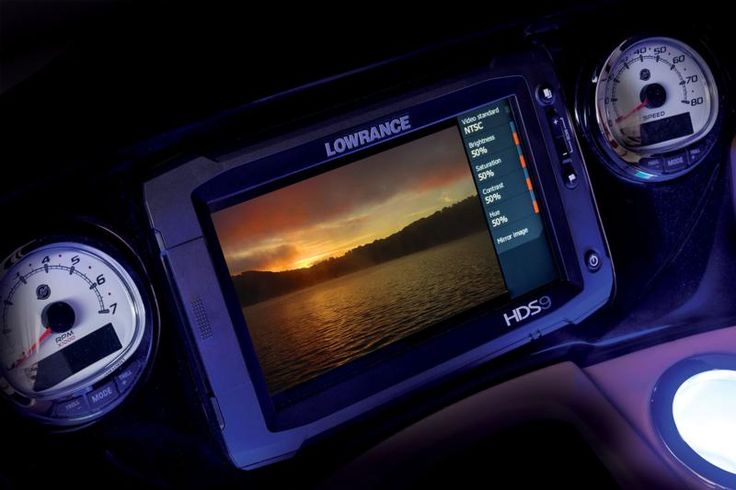 Lowrance® HDS-9 Touch depth finder w/rear camera video display