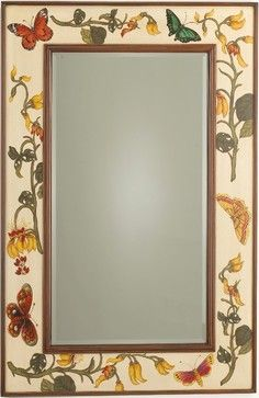 Botanical Garden Mirror - traditional - mirrors - The Southern Home