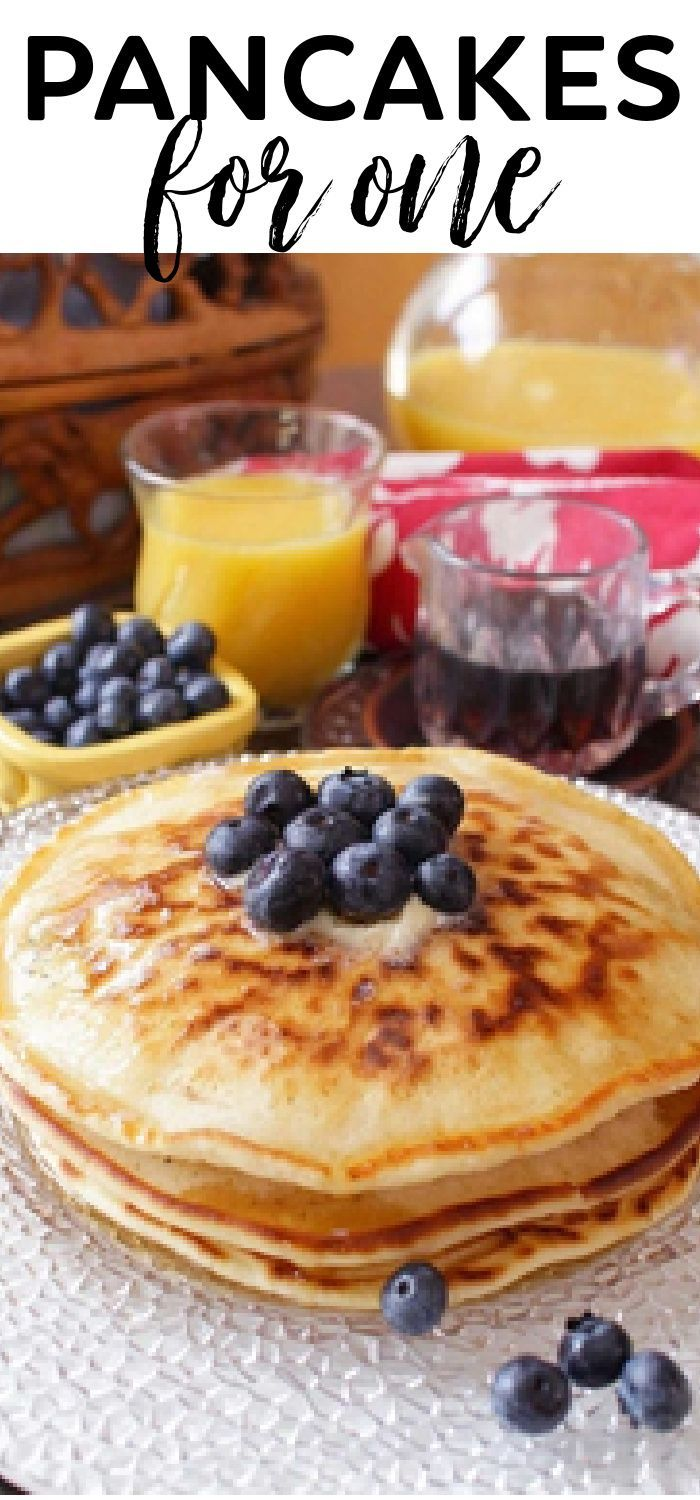 Pancake Recipe For One Fluffy And Delicious One Dish Kitchen Recipe Tasty Pancakes Recipes Pancake Recipe For 2