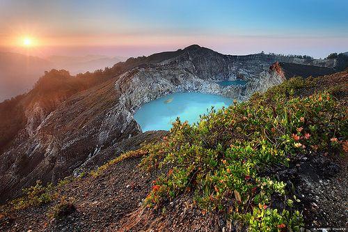 Mount Kelimutu National Park , Indonesia