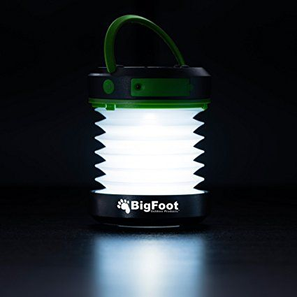 Amazon.com : Bigfoot Outdoor Products Compact Solar Camping Lantern with USB PowerBank Great for Camping, Hiking & Go Bag - Best Camping Lantern - Best Solar Lantern - Best Emergency Light : Sports & Outdoors