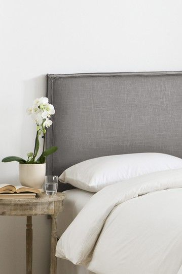 French Slipcover Headboard - Linen Grey on HauteLook Wonder if I can DIY this...