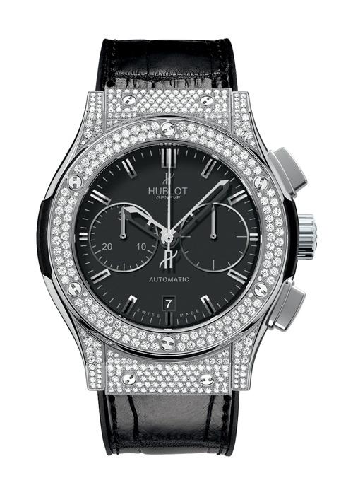 Classic Fusion Titanium Pavé Chronograph watch from Hublot