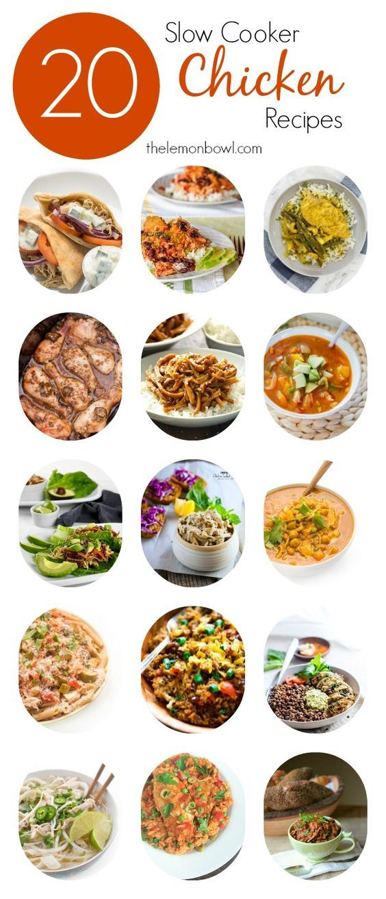20 healthy and delicious slow cooker chicken recipes for you to try!