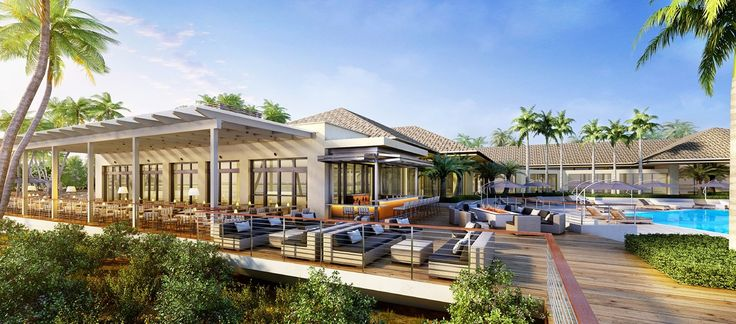 Hilton Marco Island Beach Resort and Spa, FL - Patio and Pool Rendering