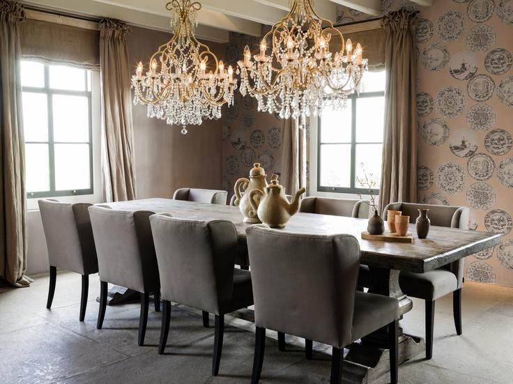17 beste idee n over roze schotels op pinterest vintage roze theekopjes en roze keukens - Woonkamer en eetkamer ...