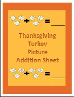 """FREE MATH LESSON - """"Thanksgiving Turkey Picture Addition Math Worksheet"""" - Go to The Best of Teacher Entrepreneurs for this and hundreds of free lessons. Pre-Kindergarten - 2nd Grade  #FreeLesson  #Math  #Thanksgiving  http://www.thebestofteacherentrepreneurs.org/2015/10/free-math-lesson-thanksgiving-turkey.html"""