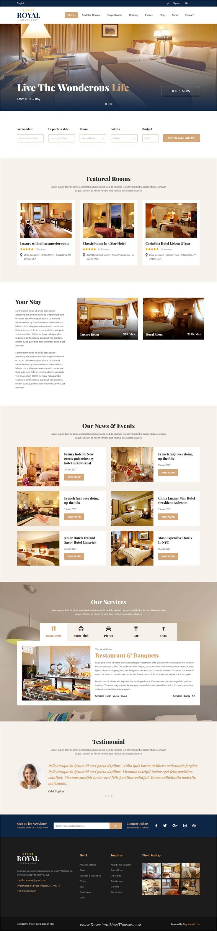 Royal Luxury Stay is clean and modern design 2in1 responsive ...