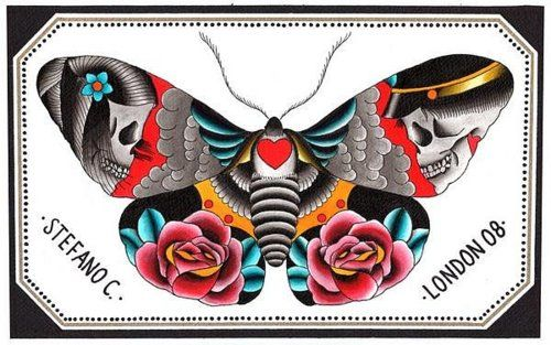 INK IT UP Oldschool Tattoos: Butterfly tattoo flashes