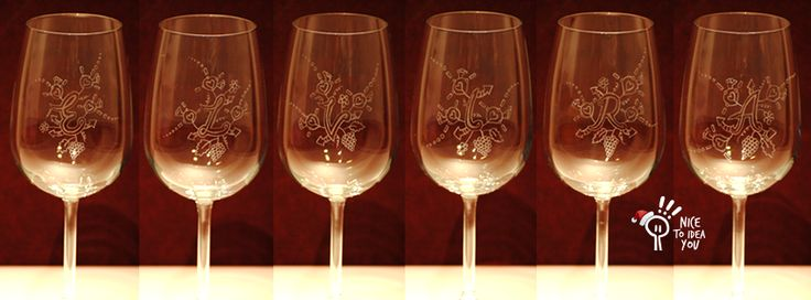 Waiting Christmas time, this is a present commissioned for E-L-V-I-R-A: hand engraved wine glass. #giftidea #natale #vino #wine #handmade