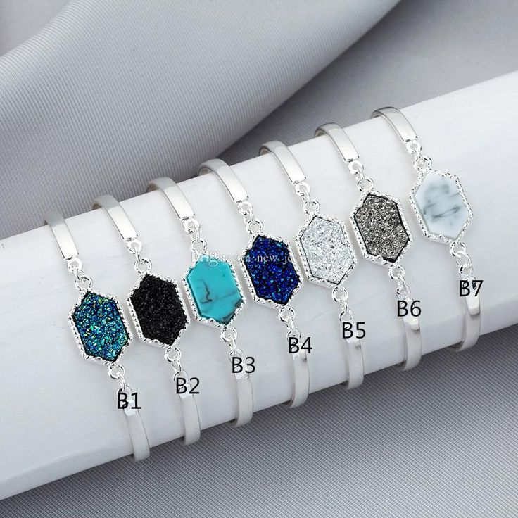 Many kinds of cheap silver rings, personalized charm bracelet and vintage charm bracelet can be bought here for a good price. new_jewellery provides amazing 4 styles druzy drusy bracelet silver gold plated geometry faux stone bracelet bangle for women brand jewelry.