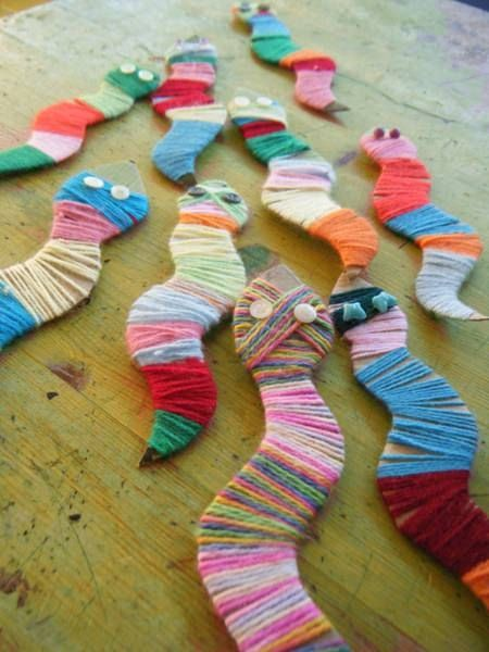 Chameleons and snakes of wool � Recyclart by MyLittleCornerOfTheWorld