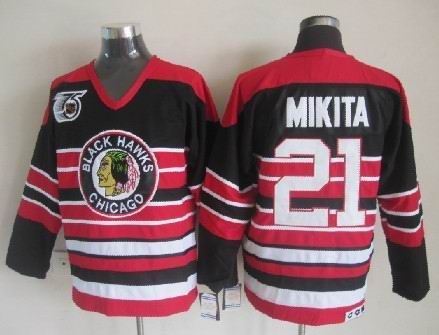 a30b0b0c8 ... Insc Chicago Blackhawks 21 Stan MIKITA 75th Anniversary Vintage Jersey  Chicago Blackhawks 052 - 45.95 ...