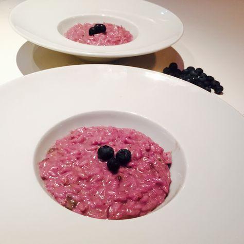 Risotto mirtilli e taleggio - Blueberry and taleggio cheese risotto