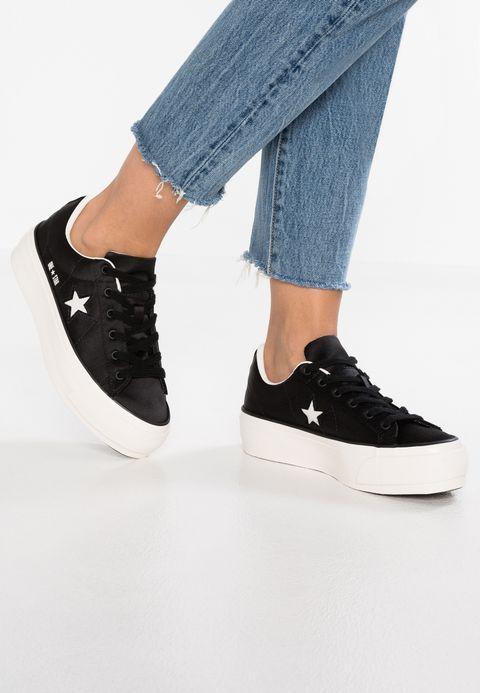 Schoenen Converse ONE STAR PLATFORM - Sneakers laag - black white egret  Zwart  a7768948f9
