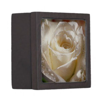 "White Rose Engagement Ring Box 2x2"" - engagement gifts ideas diy special unique personalize"