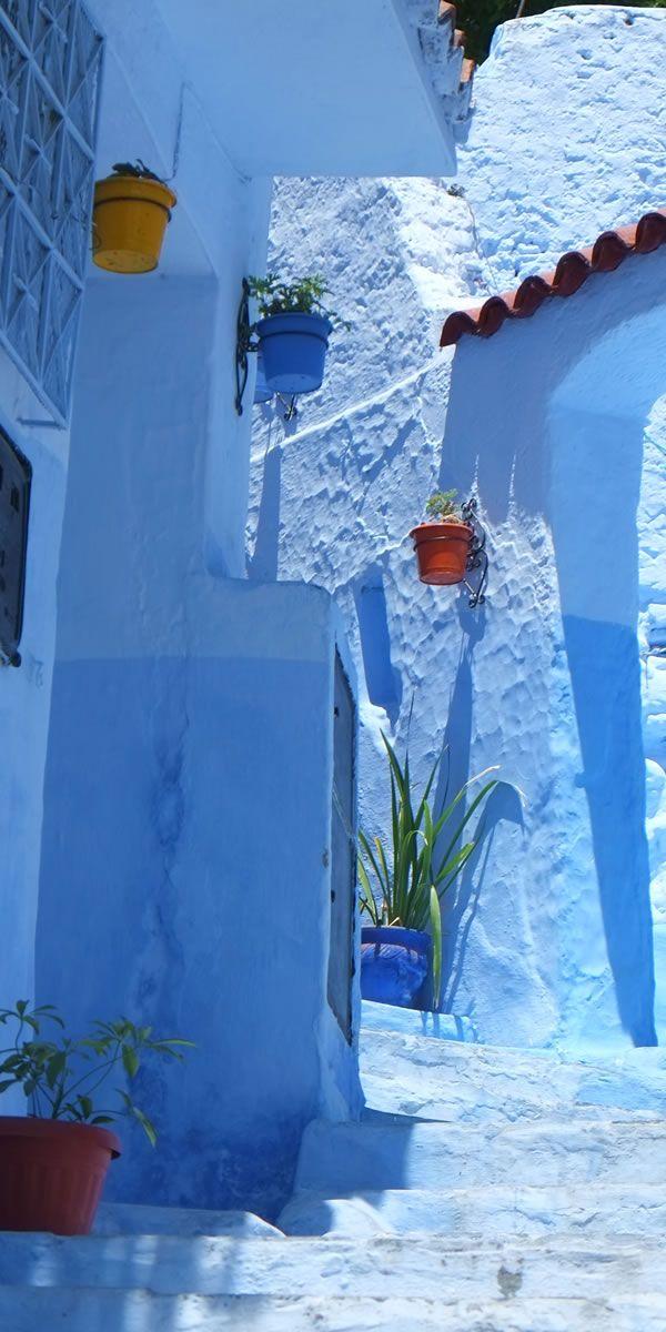 おとぎ話みたいな青い街シャウエン。 Chaouen, Morocco