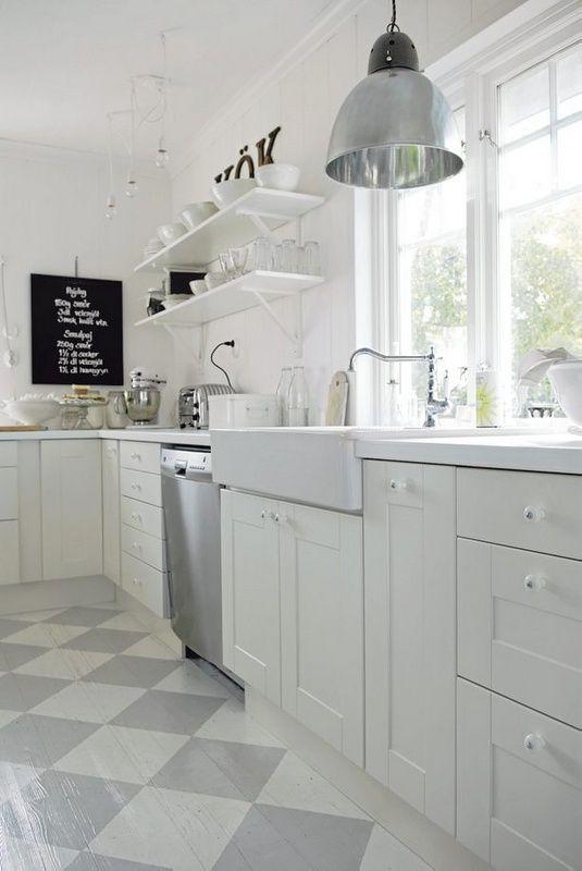Witte Keuken Houten Vloer : Meer dan 1000 idee?n over Geschilderde Houten Vloeren op Pinterest