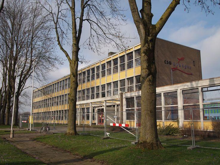 oude school in Drachten. Afgebroken.Friesland