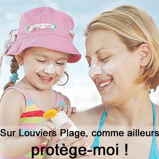 Eau, casquette et crème solaire, sur #Louviers Plage comme partout ailleurs !