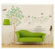 Livets træ – flot wallsticker med plads til dine bedste fotografier.