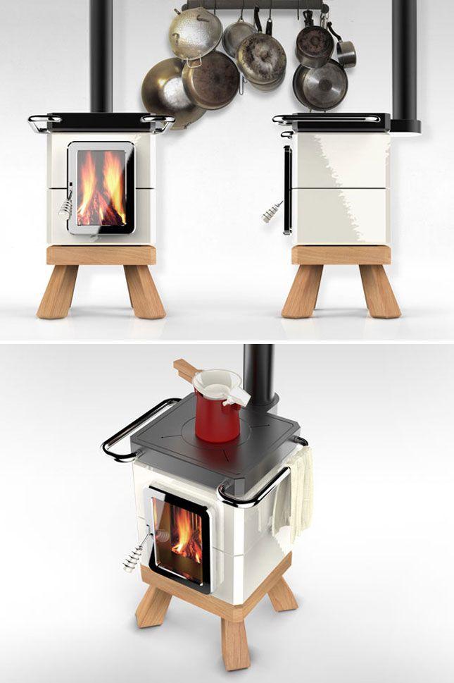 Industrial model stove.