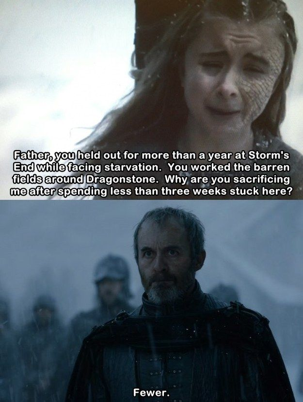 Stannis' zero tolerance policy on poor grammar.