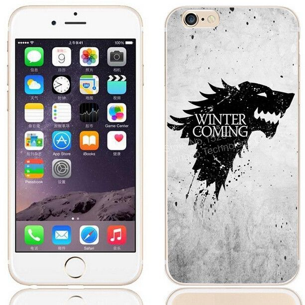 wholesale dealer e5163 16ba0 House Stark Game of Thrones Soft Silicone Cover for iPhone 7 7 Plus ...