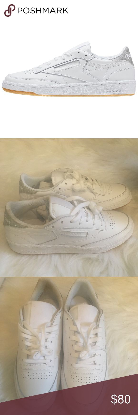 ▪️ White diamond gum reebok sneakers Brand new in box, Have never been worn BUT there is a cosmetic mark on the inside back of the right ankle. Would not be visible when worn. This is exactly why I can't purchase white anything 😩. Have not tried to get the cosmetic mark out because I didn't want to make it worse and wasn't planning on keeping-in fear of them getting dirty. Size 7.5. Can take extra pics if needed. Saw on a Kardashian and fell in love 🖤 will have to try another color. Price…