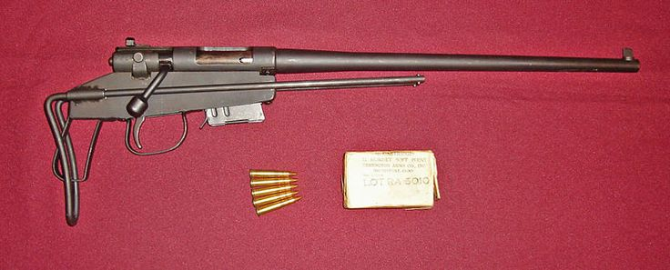 USAF M-4 Survival Rifle: Developed from the Harrington & Richardson bolt-action M265 rifle, adapted to a sheet metal frame with telescoping wire butt stock, a 14-inch detachable barrel chambered for .22 Hornet and the 4 shot detachable box magazine of the Savage-Stevens M23D .22 Hornet rifle. In the 1950s, the M4 was supplanted by the M6.  The National Park Service was issued some surplus M-4s for Park Rangers in the 1960s.