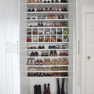 enclosed shoe closet