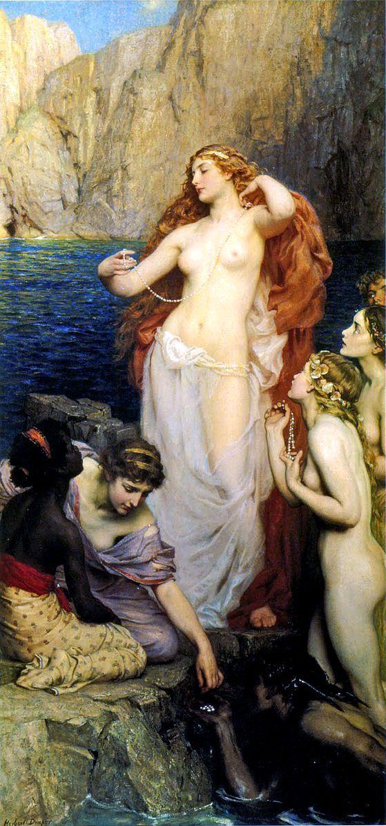Herbert James Draper   The Pearls of Aphrodite  1907