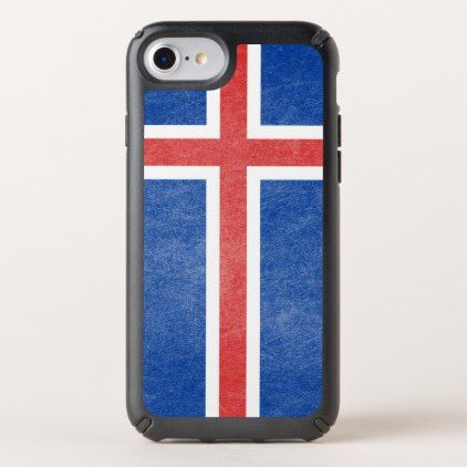 flag of iceland grunge speck iphone case
