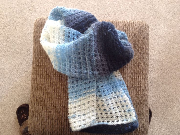 Crochet Scarf Pattern With Self Striping Yarn : 17 Best images about Tunesisk h?kling on Pinterest ...