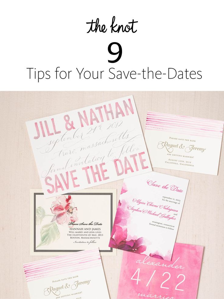 9 Tips for Your Save-the-Dates