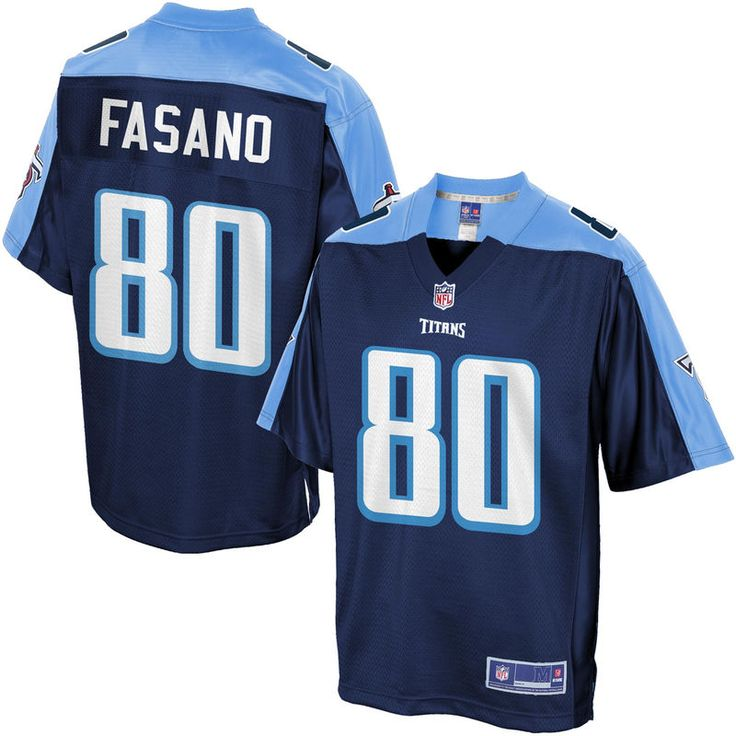 Men's Tennessee Titans Anthony Fasano NFL Pro Line Big & Tall Team Color Jersey