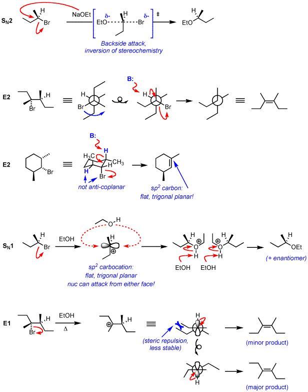 SN1 SN2 E2 E1 Organic Chemistry
