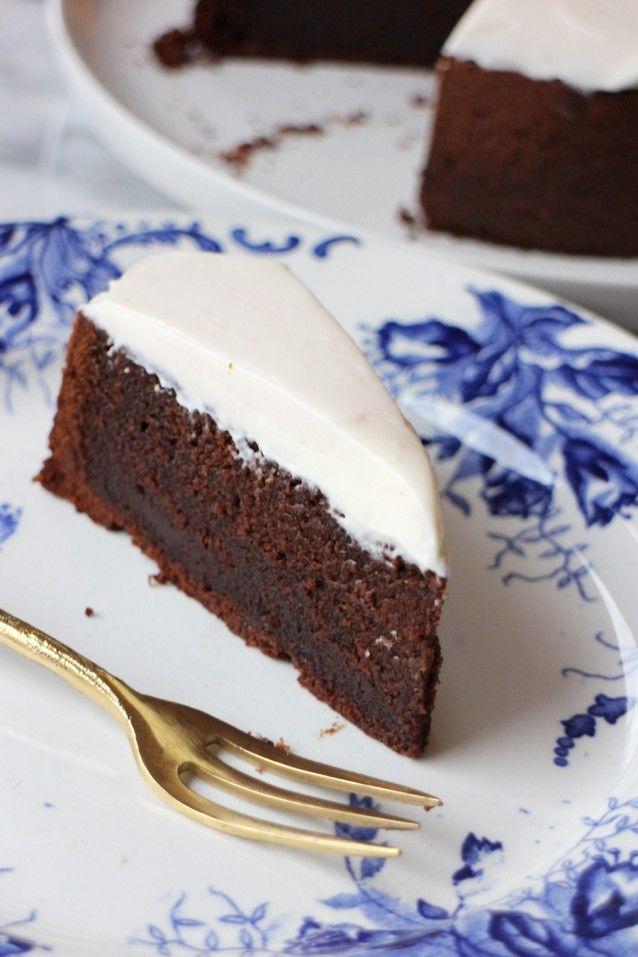 Chocoladetaart met creme fraiche3