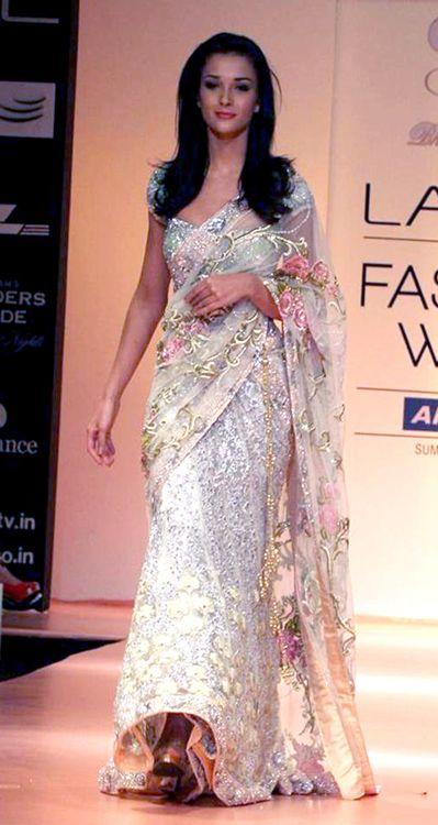 $184.36 Angela White Bollywood Lehenga Style Wedding Saree 25885
