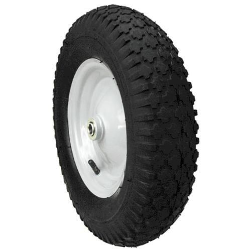 "Max Power 335232 Hub Knobby Tread Wheelbarrow Wheel, 4.8"" X 4"" X 8"""