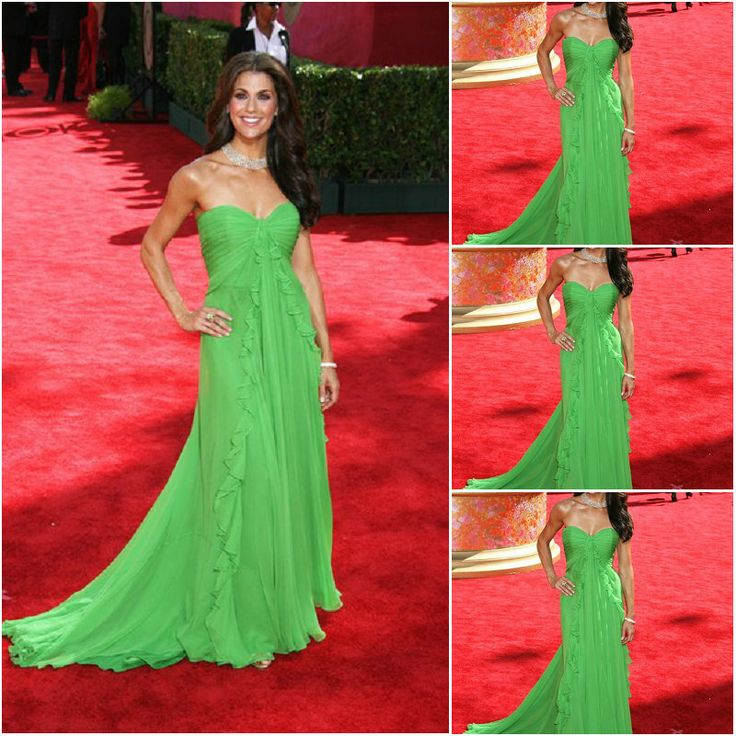 Aliexpress Custom Made Samantha Harris 61st Emmy Awards Green Red Carpet Dress