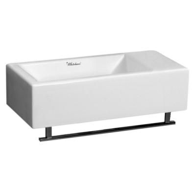 Whitehaus Isabella Collection Wall-Mounted Bathroom Sink in White-WH1-114RTB-WH at The Home Depot
