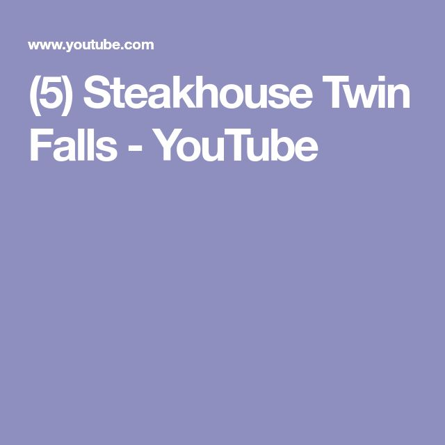 (5) Steakhouse Twin Falls - YouTube