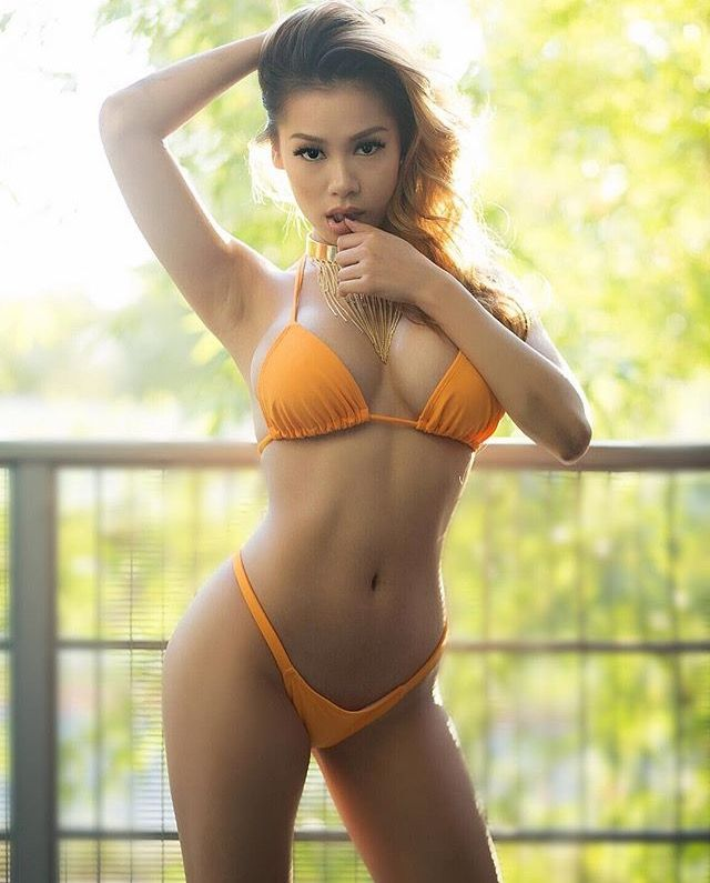 Shemale dildo hottest asian bikini big