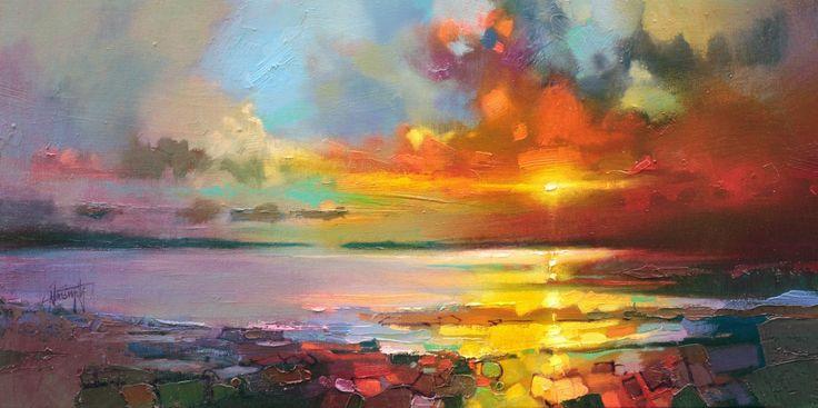Legato Shore skyscape painting | Scottish landscape painting | Scott Naismith