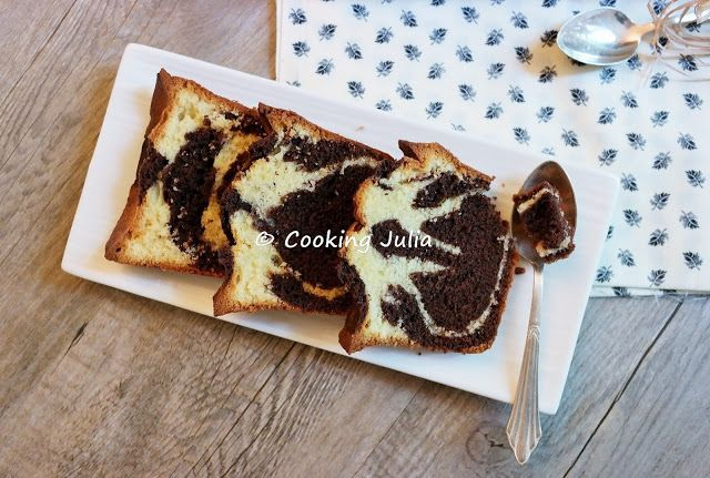 COOKING JULIA : CAKE MARBRÉ (DÉFI PASSE-PLATS ENTRE AMIS)